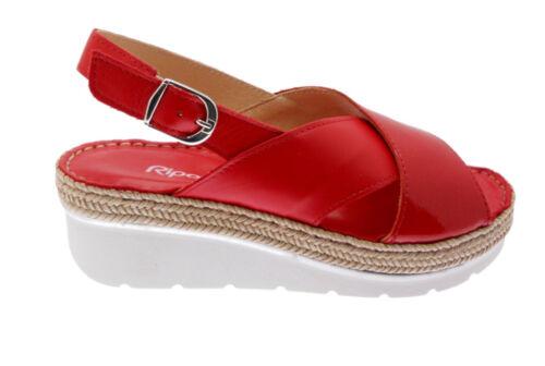 Riposella10729 sandalo rosso incrociato  plantare memory soft Riposella