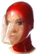 Breath play latex mask, Seamless breath control hood, Suffocating gummi rubber