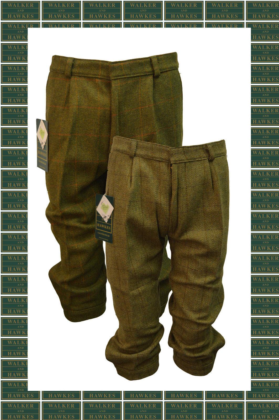 Walker and Hawkes - Kids Derby Tweed Shooting Hunting Plus FOURS Breeks Trousers