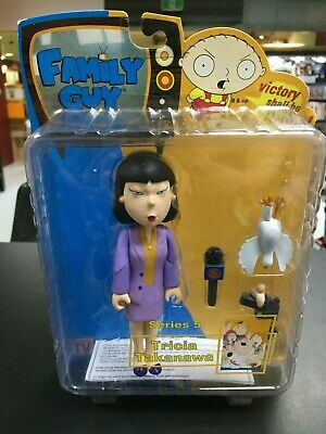 Family Guy Tricia Takanawa Action Figure Purple Dress Series 5 MIB Mezco Toy!