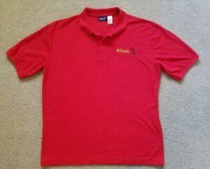 VTG-McDonald-039-s-Mens-Large-Polo-Shirt-Red-Retro-Logo-Employee-Uniform