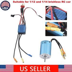 For-1-12-amp-1-14-RC-Car-Waterproof-2838-4500KV-Brushless-Motor-amp-35A-ESC-Combo-Set