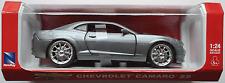NEWRAY-Chevy/Chevrolet Camaro SS Graumet. 1:24 Nuovo/Scatola Originale modello di auto