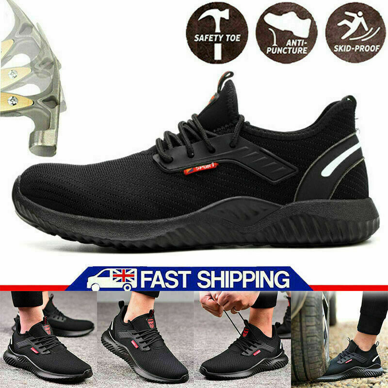 Safety Shoes Mens/Womens Lightweight Steel Toe Cap Work Boots Trainers Shoes YN