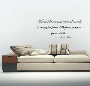 Dettagli Su Wall Stickers Frase Oscar Wilde Adesivo Murale Vita Amore Aforisma A0745