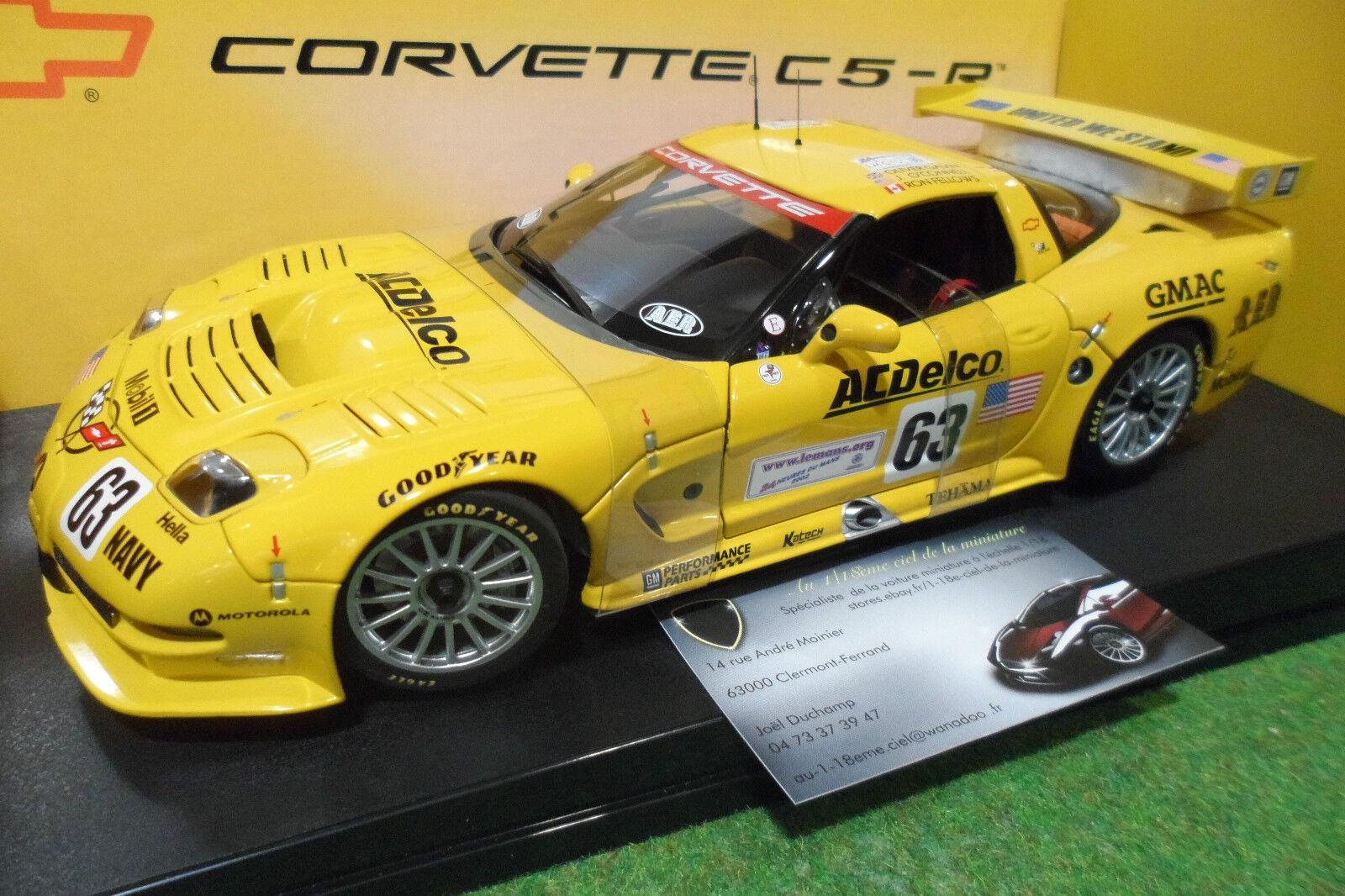 CHEVROLET CORVETTE C5-R   63 WINNER LE MANS 2002 au 1 18 AUTOart 80205 miniature
