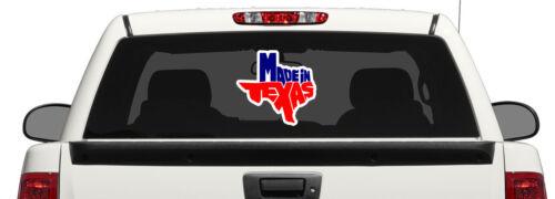 Made in Texas Decal Car Window Laptop Map Vinyl Sticker TX
