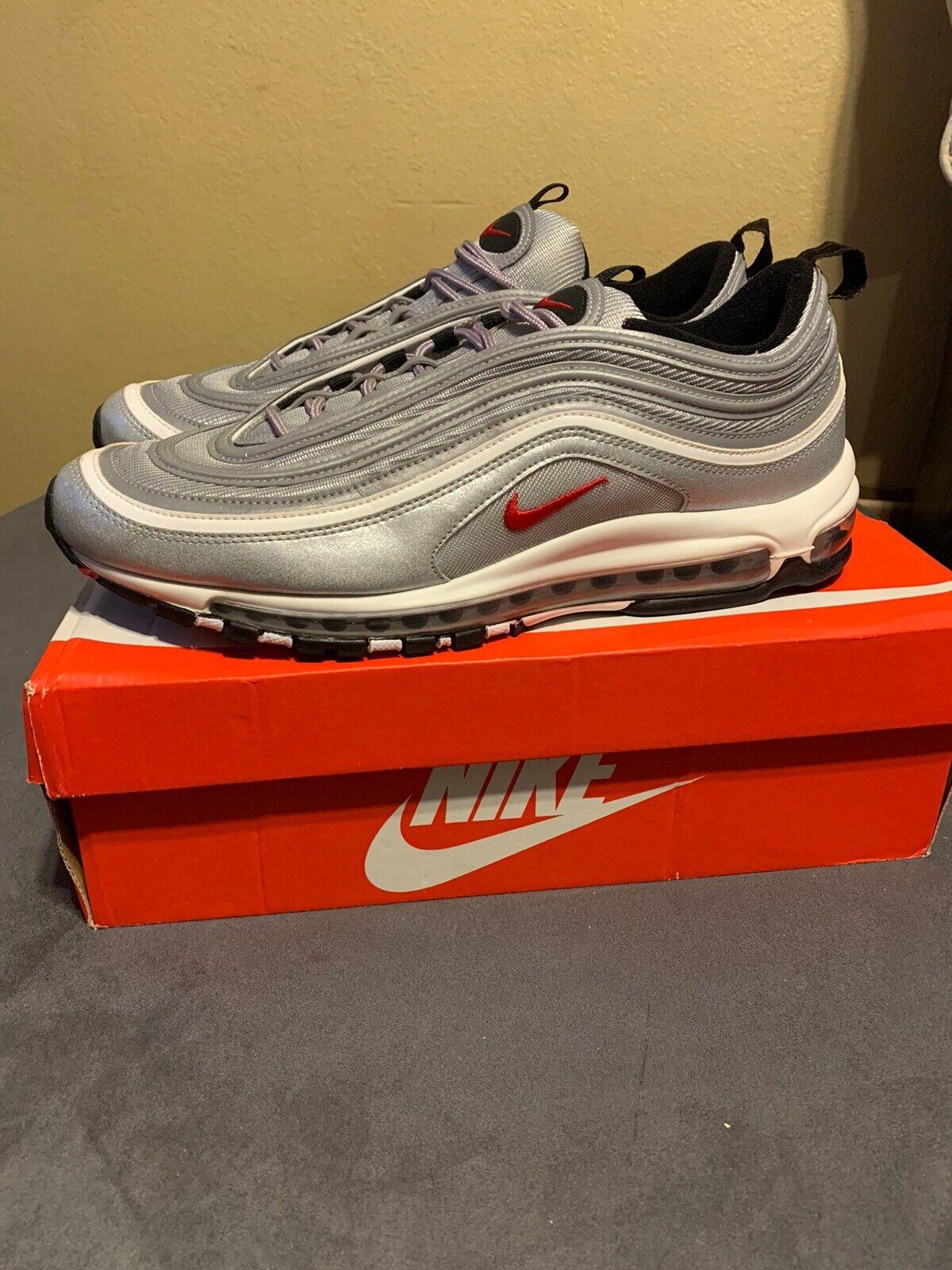 buscar genuino el precio más baratas estilo atractivo Nike Air Max 97 OG QS 884421-001 Silver Bullet in Hand Metallic ...