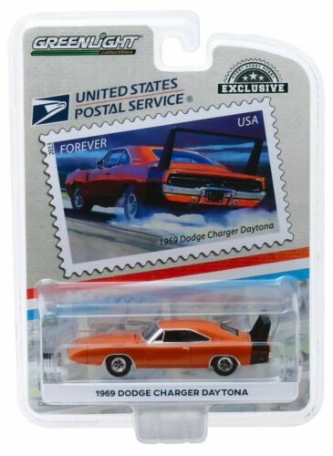 1969 Dodge Charger Daytona-USPS America on the Move *** GreenLight 1:64 OVP