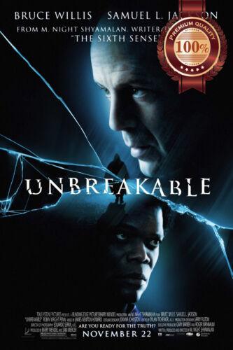 NEW UNBREAKABLE M NIGHT SHA 2000 ORIGINAL CINEMA FILM MOVIE PRINT PREMIUM POSTER