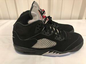buy online 09dd1 c6524 Details about Nike Air Jordan 5 V Retro OG Black Fire Red Metallic Silver  White 845035-003 14
