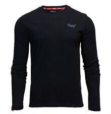 Superdry Mens Orange Label Embroidery T Shirt Long Sleeve Black Navy White Grey