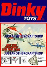 DINKY TOYS 724 736 SEA KING Elicottero di grandi dimensioni Poster Pubblicità foglio segno