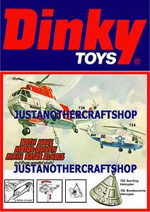 Dinky-Toys-724-736-Mar-Rey-helicoptero-grande-A3-tamano-poster-ANUNCIO-FOLLETO-signo