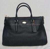 NWT Coach F35185 Morgan Satchel/Shoulder Bag in Midnight. Dark Blue Leather