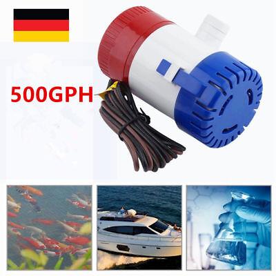 12V 1100 GPH Elektrische Bilgenpumpe Bilgepumpe Lenzpumpe Wasserpumpe boot Pumpe