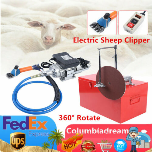 Heavy duty Electric Sheep Shearing Machine Wool Clipper Shears Cutter 360° Rotat