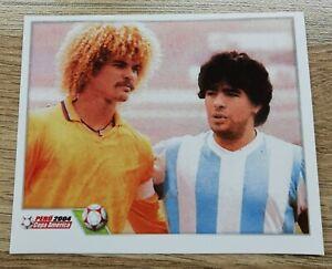 DIEGO MARADONA / CARLOS VALDERRAMA - Copa America Peru 2004 Sticker - #16
