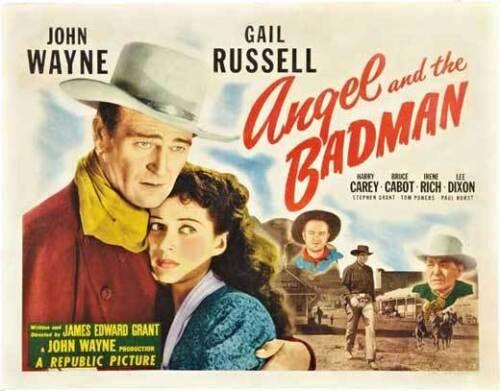 ANGEL AND THE BADMAN Movie POSTER 22x28 Half Sheet John Wayne Gail Russell Harry