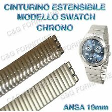 CINTURINO ESTENSIBILE tipo SWATCH IRONY CHRONO