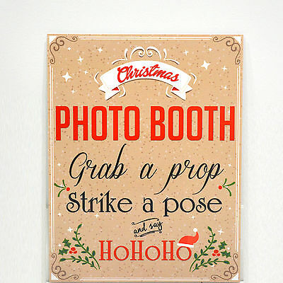 Christmas Photo Booth Props Photography Santa Photobooth Party Prop Sign
