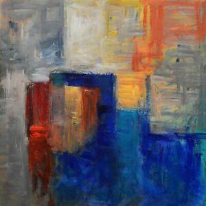Original-Acrylic-Painting-Canvas-Abstract-Art-Wall-Decor-Windows-20-x-20-034
