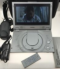"""Samsung Portable 10"""" DVD Player DVD-L200 Remote Battery & Charger LB-8 Extras"""