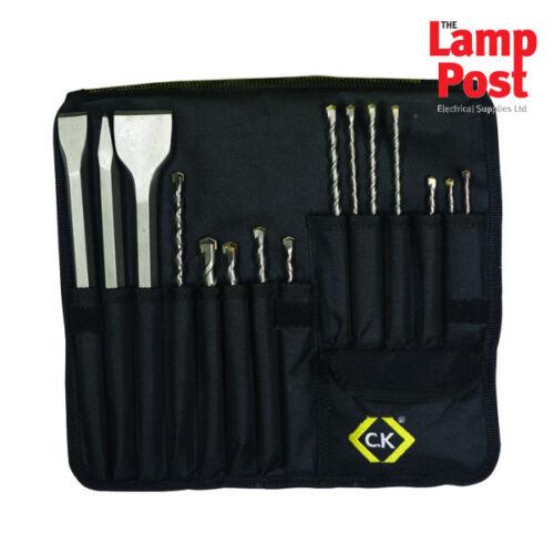 CK Tools T3133 SDS albañilería /& Cincel Conjunto de 15 Piezas con Caja de almacenamiento
