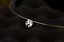 Elegant 925 Sterling Silver 1-2 Cts AAA CZ Pendant Invisible Chain Necklace