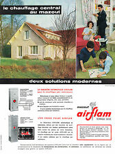 PUBLICITE ADVERTISING  1963   AIRFLAM  chauffage central à mazout