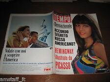 RIVISTA TEMPO 1966/5=STEFANIA SANDRELLI=GASSMAN=BOBBY SOLO=ANNA RASSMUSSEN=