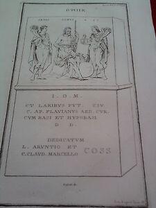 GRAVURE-ANCIENNE-D-039-EPOQUE-BOISSARD-JUPITER-FORMAT-26-x-41-5-cm
