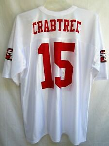 SF 49ers..MICHAEL CRABTREE..NFL TEAM APPREL..WHITE & RED..JERSEY ...