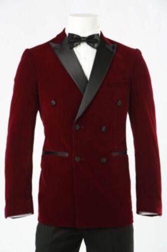 Men Velvet Coat Blazer Jackets Designer Grooms Wedding Tuxedo Casual Dinner