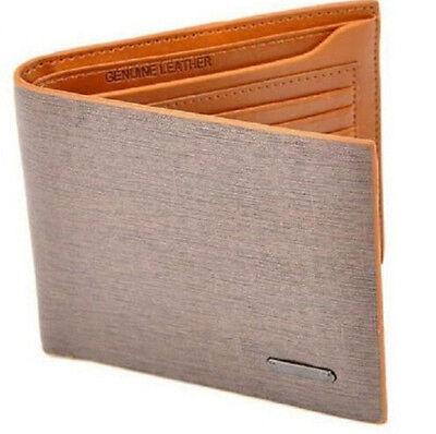 GRAU Fashion Mens Leather Bifold Clutch Credit/ID Card Holder Wallet Coin Purse