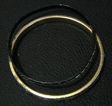 2x different bangle style bracelets black and white colouring approx 2.5ins wide