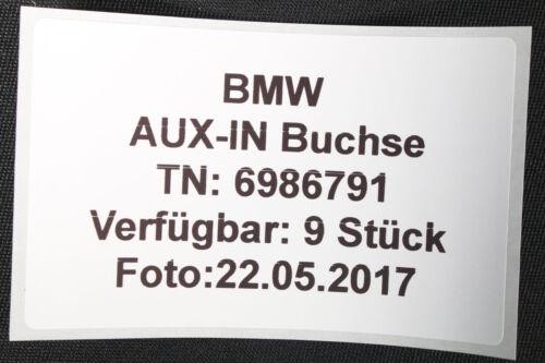 BMW AUX-IN Buchse 6986791 ~ 5er E60 F10 F07 6er E63 F12 7er F01 X1 E84 X5 X6 E7x