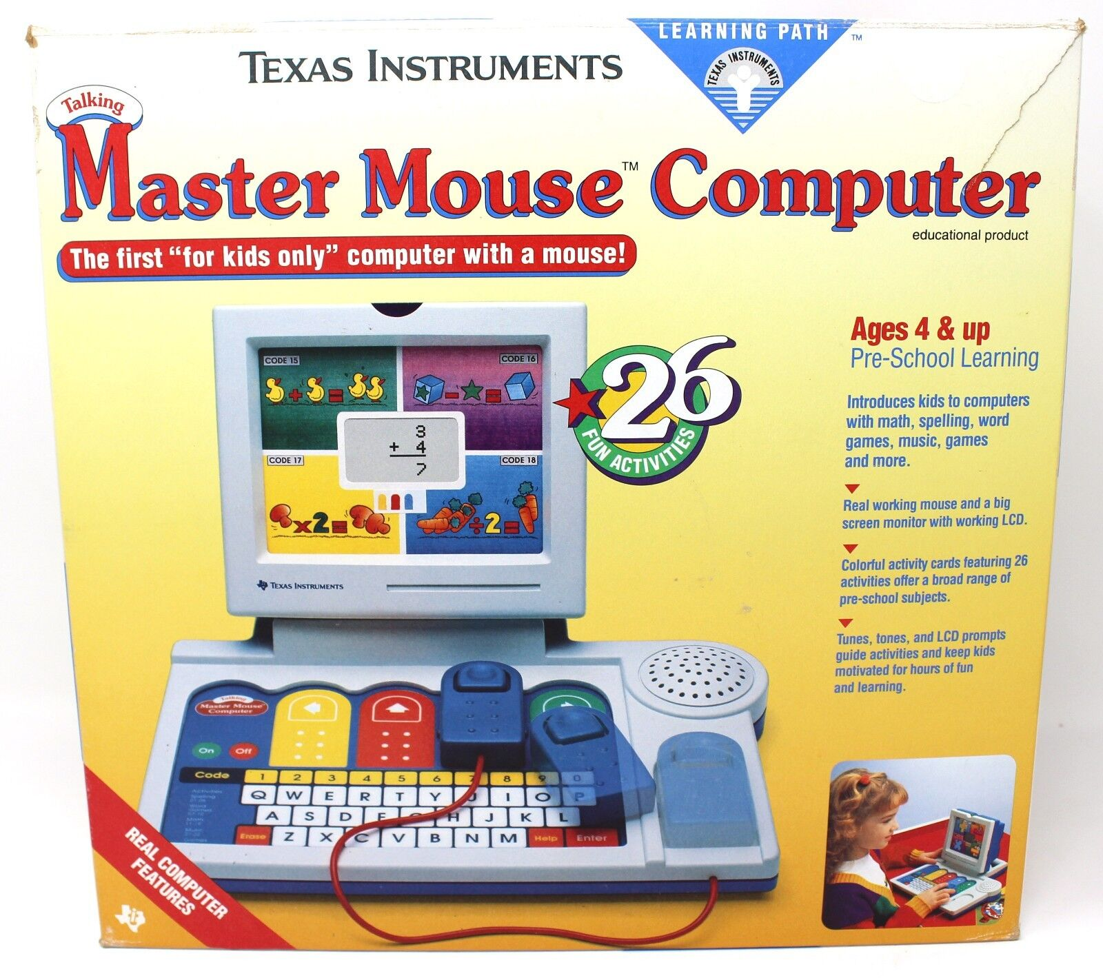 Texas Instruments Talking Master Mouse Computer Learning Path