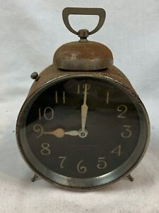 Early 1900's - Working Radium Hand Painted Dial Lord Baltimore Alarm Clock 305