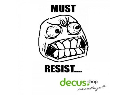 Must Resist dégénèrent face L 2204 13x10 cm //// sticker JDM Autocollant Vitre Frontale