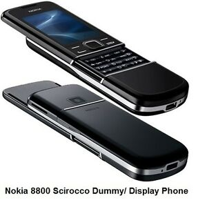 NOKIA SIROCCO 8800 ARTE BLACK DUMMY DISPLAY TOY PHONE - UK - GIFT