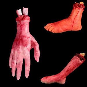 Halloween-Scary-Bloody-Body-Parts-Hands-Feet-Fingers-Lifesize-Scary-Party-Props