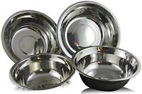 Mixing Bowls, Checkered Chef Stainless Steel Mixing Bowl Set, 4 Metal Prep Bowls on sale