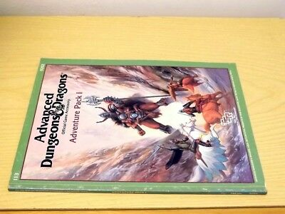Ad&d Tsr Advanced Dungeons & Dragons 9202 Adventure Pack I 1 1987 Accessory