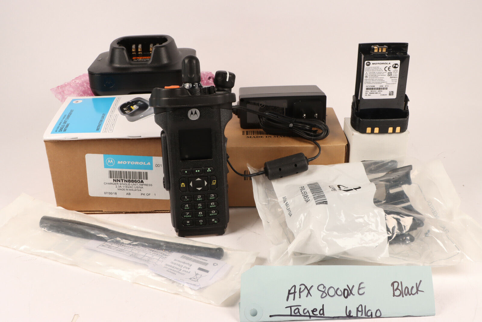 Motorola APX8000XE All Band FPP6 Algo's w/ antenna charger & battery *w/ Tags. Buy it now for 4950.00