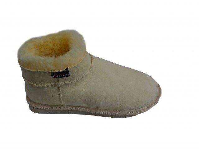 femmes Medico Pantofole pelle di Pecora Camoscio Caldo Naturale