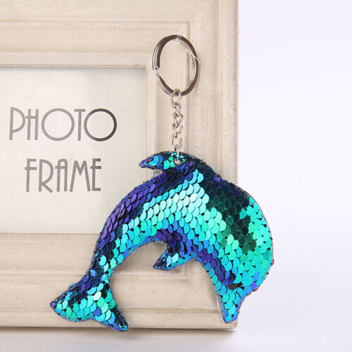 Mermaid Sequins Keychain Handbag Pendant Dolphin Keyring Bag Accessories,,