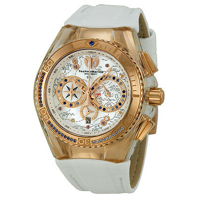 Technomarine Cruise Dream Chronograph Mother of Pearl Dial White Leather Ladies