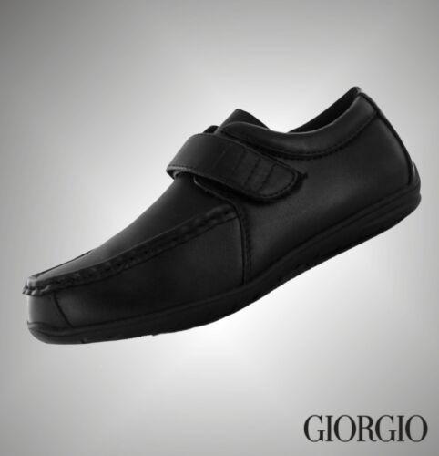 New Boys Branded Giorgio School Bexley Vel Casual Shoes Size C10 C11 C12 C13 1 2