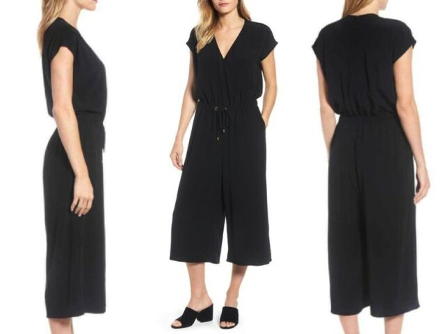 28fbcfd476d Eileen Fisher Cropped Wide Leg Jumpsuit Black Size XLRG With Tag for ...